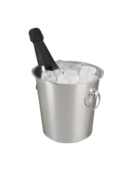Seau à champagne avec anses inox - ø 21x21 cm