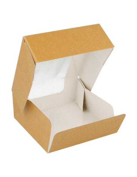 Boites en Carton alimentaire Brun avec Fenêtre