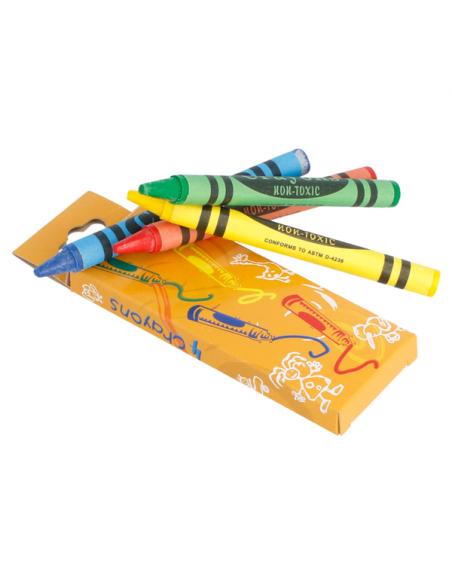 Boîtes de 4 crayons de couleur en cire