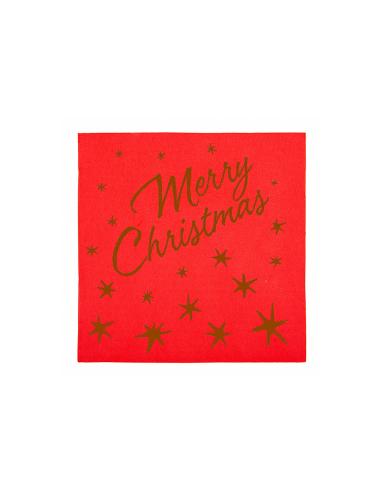 """Serviettes """"Merry Christmas"""" - 40x40 cm"""