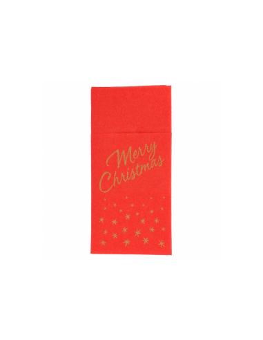 """Serviettes Kangourou """"Merry Christmas"""" - 40x40 cm"""