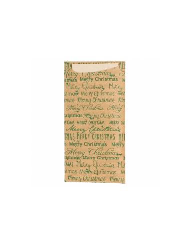 """Sachets couverts+serviettes """"Merry Christmas"""" - 11,2 x 22,5 cm"""