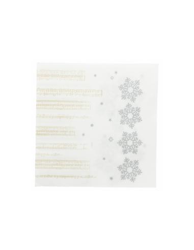 """Serviettes """"SNOW"""" - 33x33 cm"""