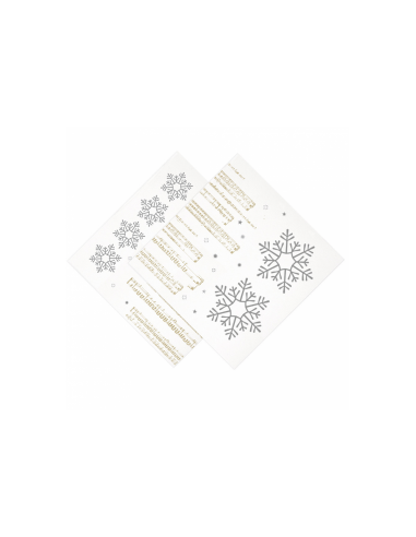 """Serviettes """"SNOW"""" - 40x40 cm"""