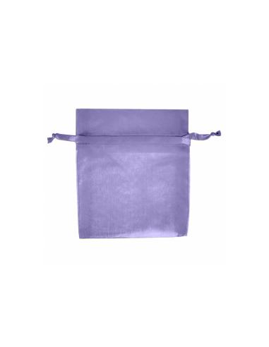 Sachets en organza avec fermeture -12,5x11 cm - lavande