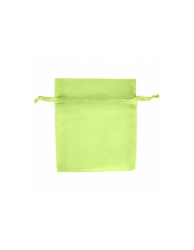 Sachets en organza avec fermeture -12,5x17 cm - vert
