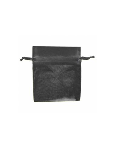 Sachets en organza avec fermeture - 15x24 cm - noir