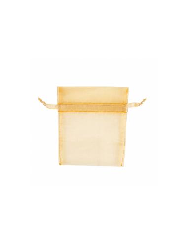 Grands sachets en organza avec fermeture - 35x40 cm - jaune