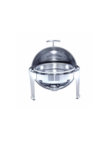 Chafing dish rond couvercle rabattable 6L  48x47 cm