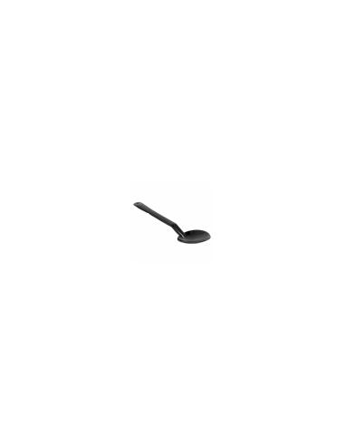 cuillere noir de service en plastique