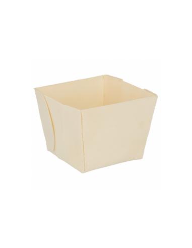 """Barquette carrée """"WOODVIL"""" - 7x7x5,5 cm"""