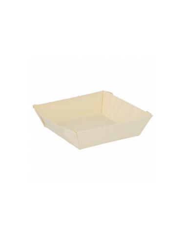 """Barquette carrée """"WOODVIL"""" - 7x7x2 cm"""