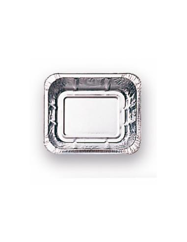 barquette carrée en aluminium