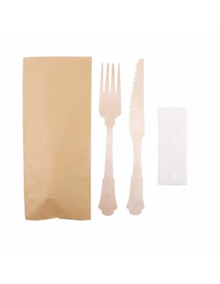 """Set fourchette/couteau/serviette """"Classic"""""""