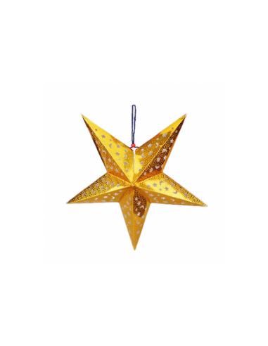 Etoile dorée à suspendre - Ø 60 cm