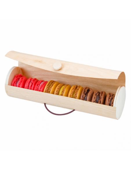 Boîte cylindrique pour 7/9 macarons
