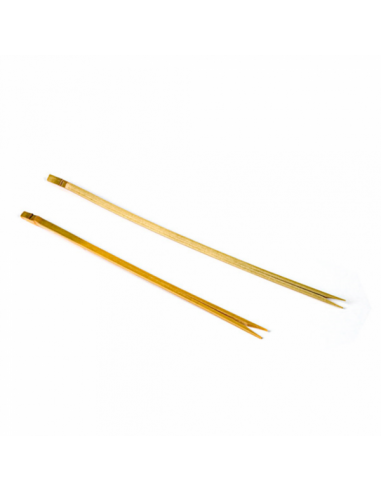 Piques double pointe en Bambou - 15 cm