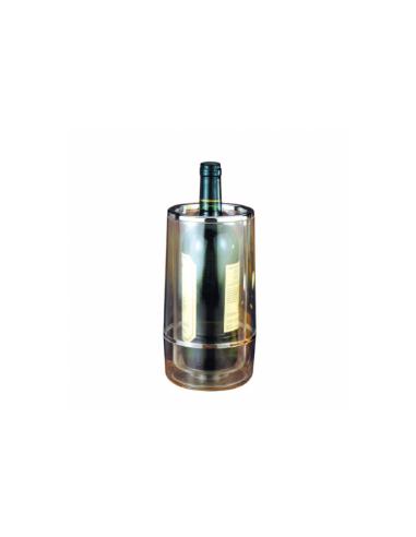 Housse bouteille vin ø 12x23 cm transparent acrylique