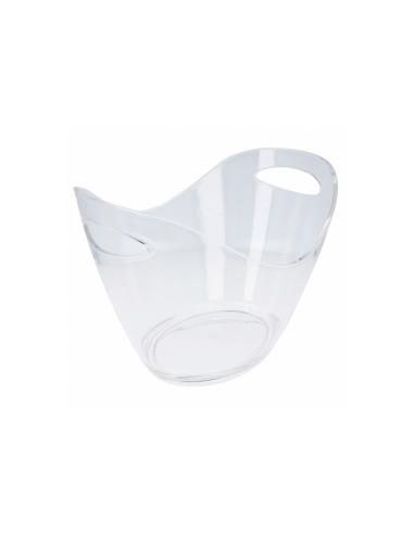 Seau oval 27x20x20 cm transparent acrylique