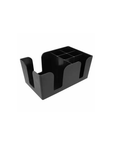 Organisateur bar caddy en plastique noir