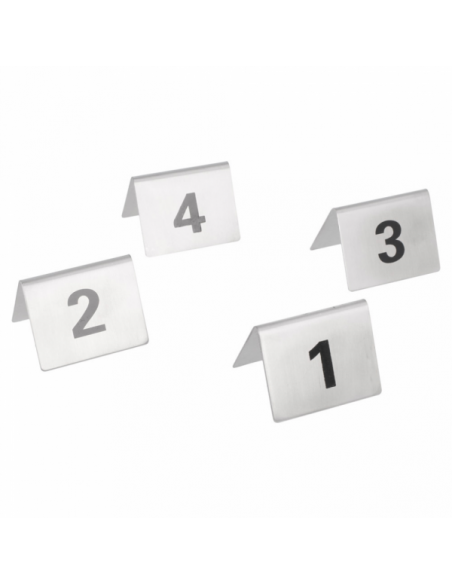 NUMÉROS DE TABLE DU 1 AU 25 - 5,2x4,2 CM
