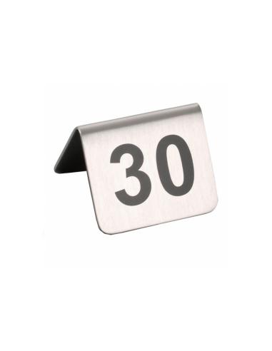 NUMÉROS DE TABLE DU 26 AU 50 - 5,2x4,2 CM