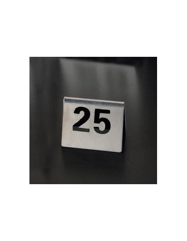 NUMÉROS DE TABLE DU 26 AU 50 - 7,5x5,5 CM