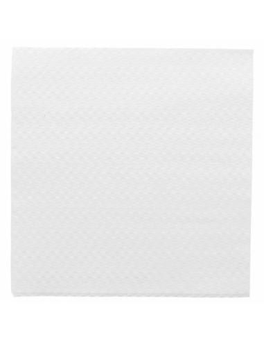 Serviettes ECOLABEL 1 PLI 20 G/M2 33x33 CM Blanc ouaté