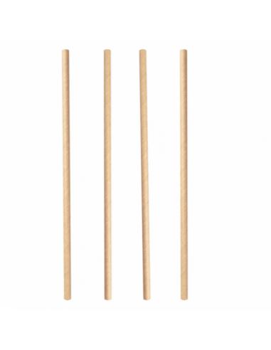 Pailles droites en papier - Kraft - Ø0