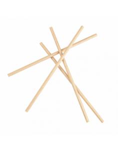 Pailles droites en papier - Kraft - Ø 0,60 x 21 cm