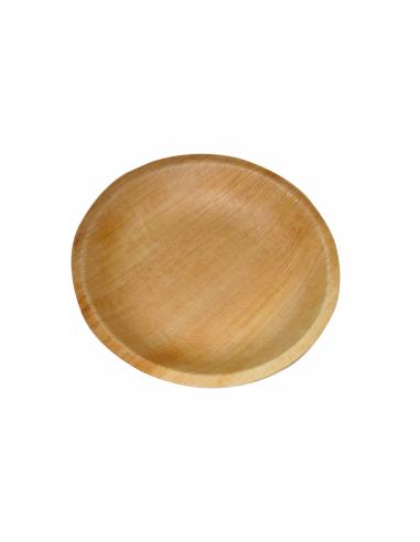 """Assiette ronde en feuille de palmier """"WEBIO""""ø12.5x2 cm"""