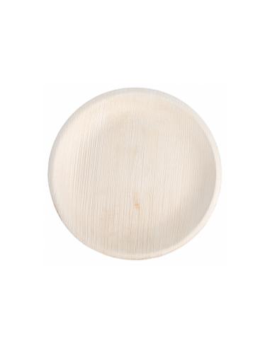 """Assiette ronde en feuille de palmier """"WEBIO""""ø18x2 cm"""
