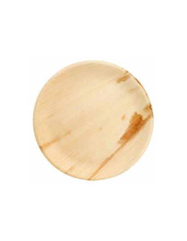 """Assiette ronde en feuille de palmier """"WEBIO""""ø23x2 cm"""