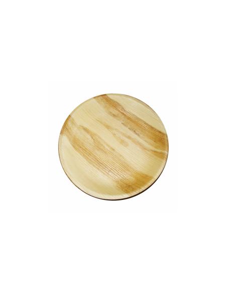 """Assiette ronde en feuille de palmier """"WEBIO""""ø25x2 cm"""