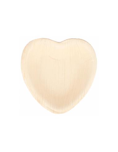 """Assiette coeur en feuille de palmier """"WEBIO"""" 10x10x1.5 cm"""