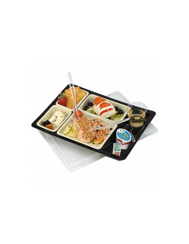 Plateaux repas avec 4 contenants et son couvercle 34