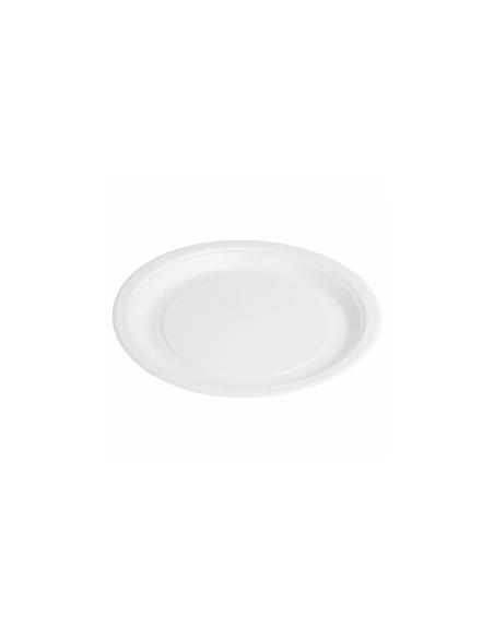 Assiette ronde bio laquée en carton