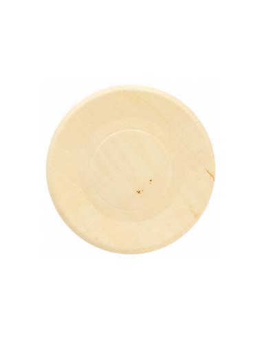 Assiette ronde bois couleur naturel Ø21.5x1.5cm