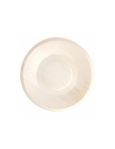 Assiette ronde bois couleur naturel Ø19x1.5cm