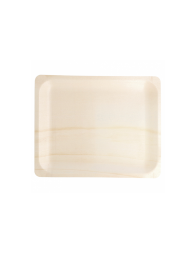 Plateau rectangle bois couleur naturel 26.5x21.5x2cm