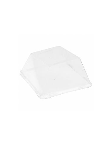 couvercle PET transparent pour Assiette carree 9x9x2.5cm