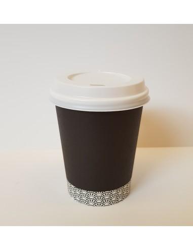 Couvercles hermétiques pour gobelets boissons chaudes 25 cl