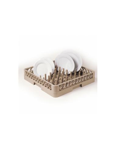Casier de lavage assiettes et plateaux inferieur à 45cm beige PP 50x50x10cm