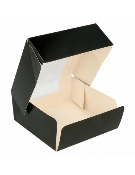 Boites en Carton alimentaire Noir avec Fenêtre