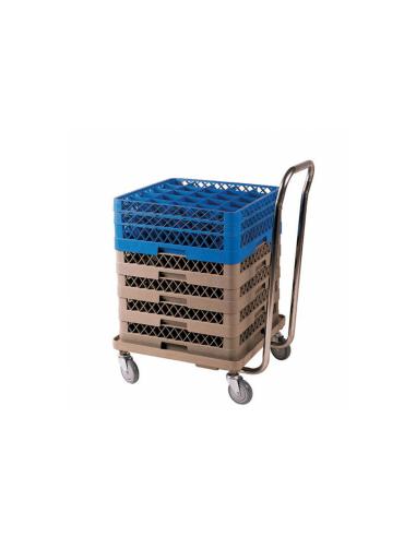 Chariot transport pour racks 54x54x81cm beige ABS