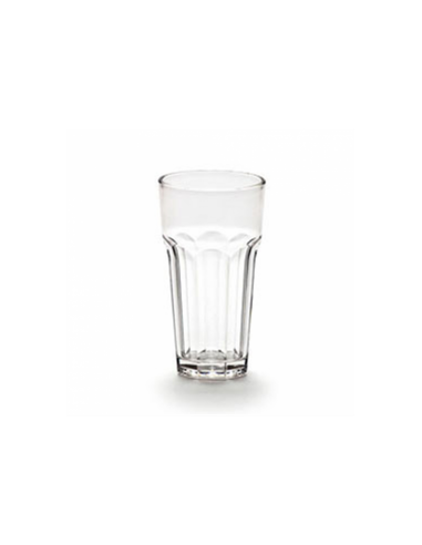 Gobelets empilables 414 ml ø 7.9x12.7 cm transparent polycarbonate