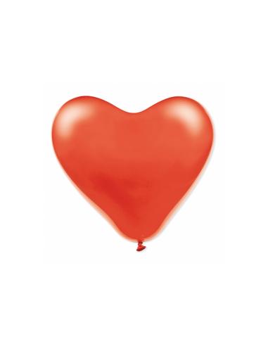 """Ballon """"Cœur"""" en latex rouge - ø 31 cm"""