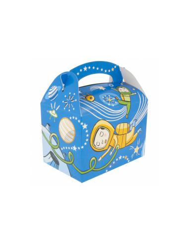 """Boîte pour menu enfant, modèle """"ESPACE"""" 320 G/M2 17x16x10 CM"""