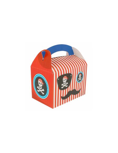"""Boîte pour menu enfant, modèle """"PIRATE"""" 320 G/M2 17x16x10 CM"""