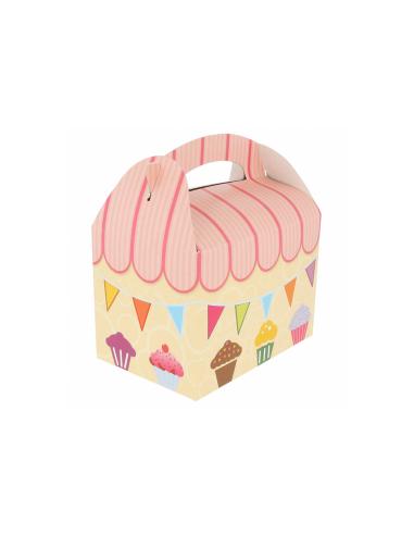 Boîte pour menu enfant, modèle 'PARTY' 320 G/M2 17x16x10 CM